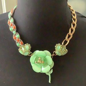 Vintage assemblage flower necklace OOAK